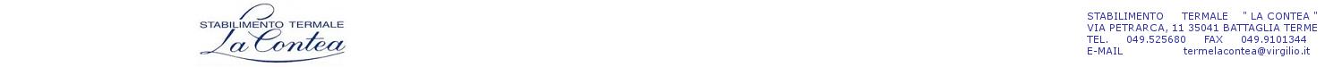 Terme di Battaglia srl - Partita IVA 00374300283 - Numero REA PD-122323